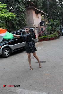 Bollywood Actress Model Urvashi Rautela Stills in Black Dress at Republic Day Celebrations  0008.jpg