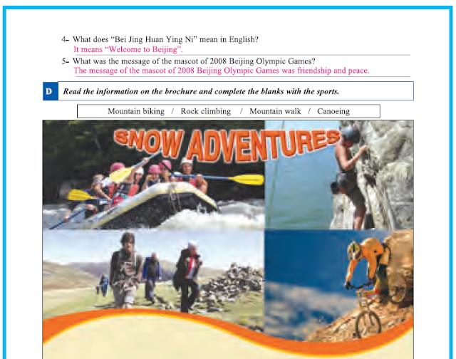 9. Sınıf Yıldırım Yayınları İngilizce A1.2 Çalışma Kitabı 34. Sayfa Cevapları Theme 4 Sports