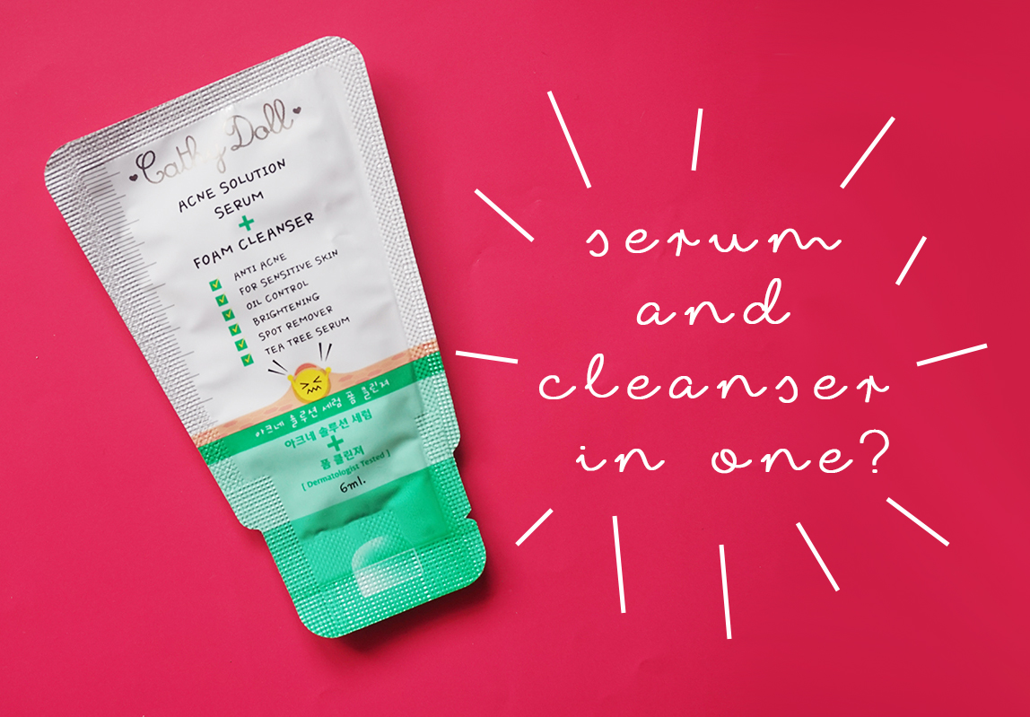 Cathy Doll Acne Solution Serum + Foam Cleanser in a sachet