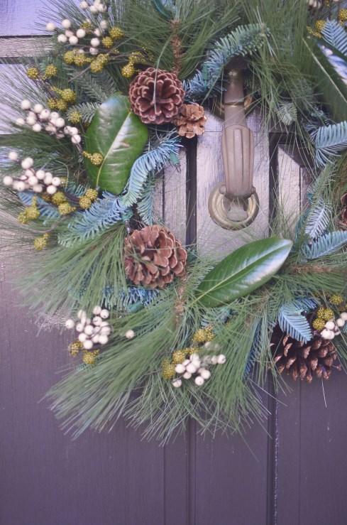 Deck the Doors Treetopia Evergreen Winter Pine Wreath and Garland