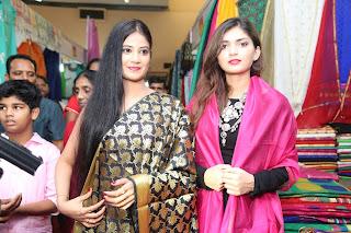 Actrs Afia Bharadwaj & Aliya Abraham Inaugurates Kala Silk Handloom Expo @ Srinagar Colony