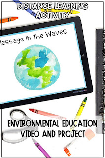 Ocean pollution distance learning activity for Earth Day NGSS