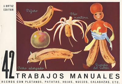 42 trabajos manuales hechos con plátanos, patatas, hojas, nueces, calabazas