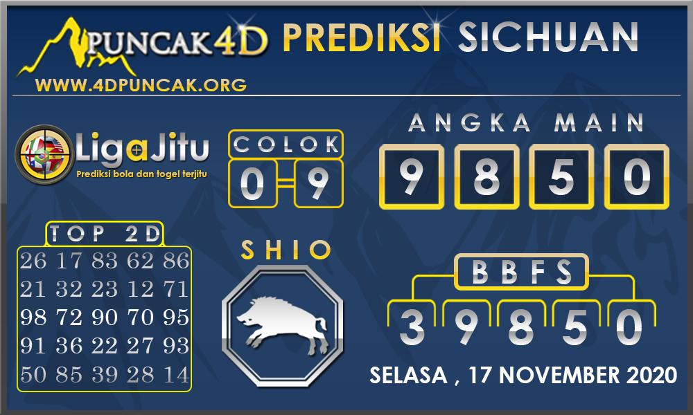 PREDIKSI TOGEL SICHUAN PUNCAK4D 17 NOVEMBER 2020
