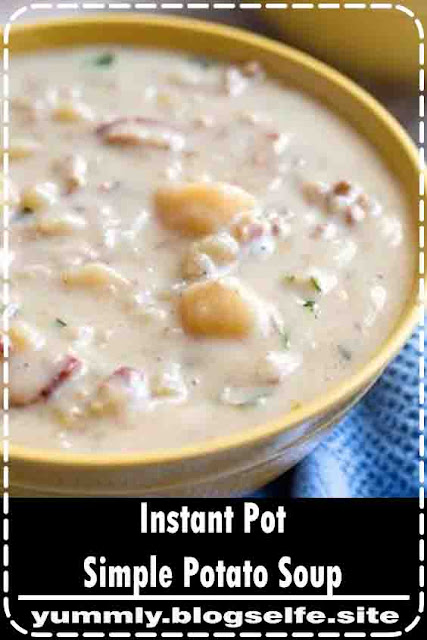 nstant Pot Simple Potato Soup is a creamy, savory potato soup recipe that is easy to make and tastes delicious. Pressure Cooker potato soup is comforting and simply tasty #instantpotrecipes #instantpotpotatosoup #instantpotsoup #pressurecookerpotatosoup