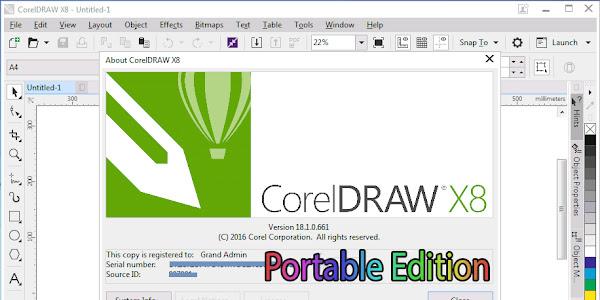 CorelDraw Portable X8 Free Download