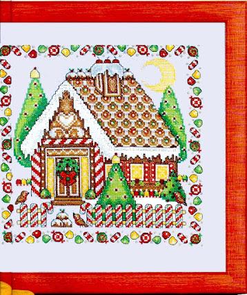 cross stitch chritsmass pattern free- schema casa di pan di zenzero a punto croce #natale#christmas #patternstitch