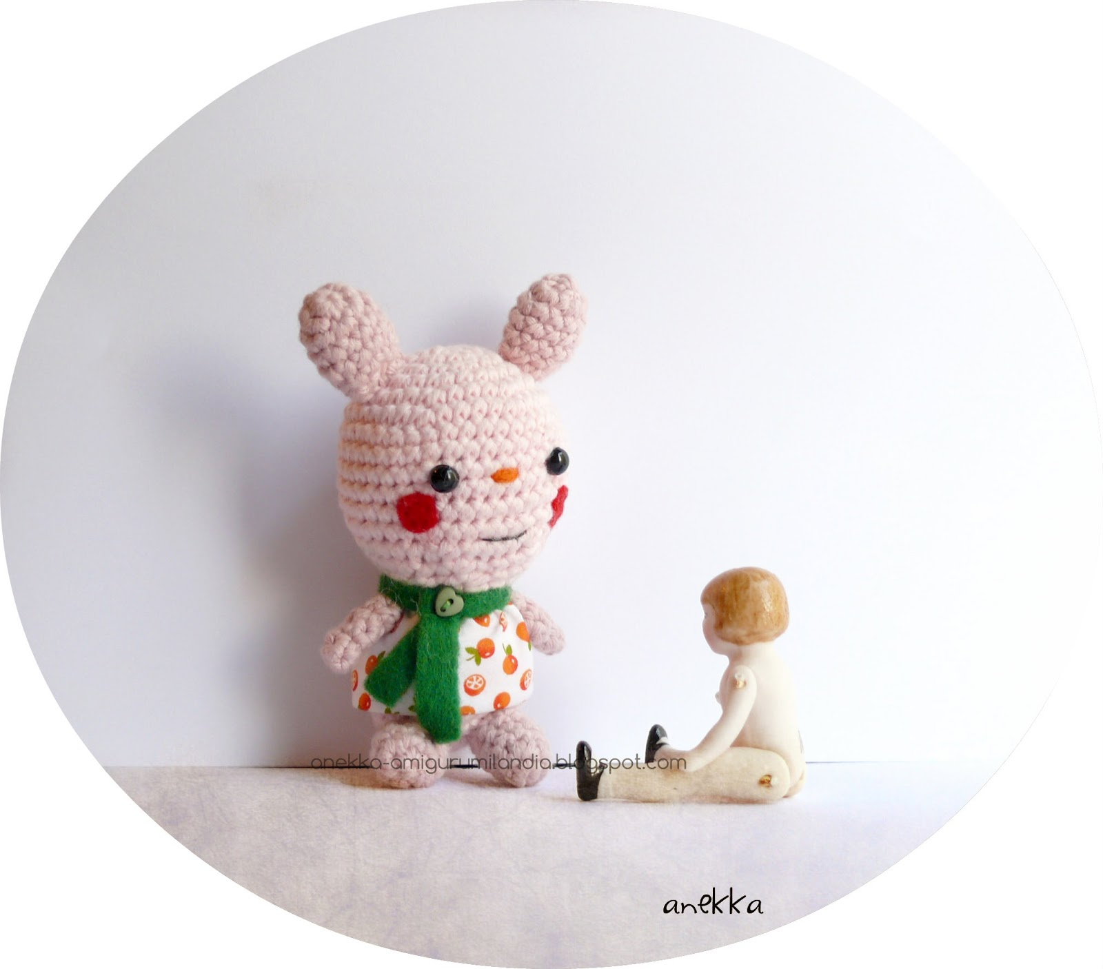 pink bunny  handmade crochet
