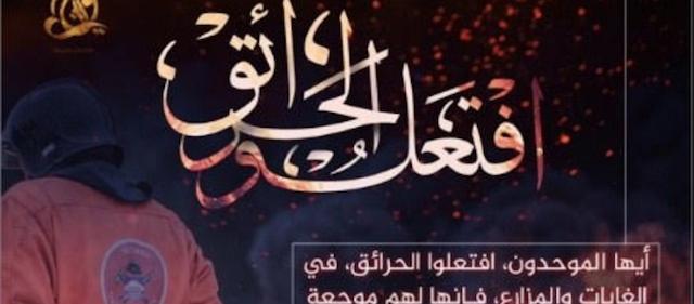 ISIS στους πιστούς της: «Βάλτε φωτιές στα δάση σε Ευρώπη και ΗΠΑ»