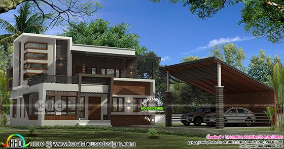 2712 sq-ft separate car porch residence
