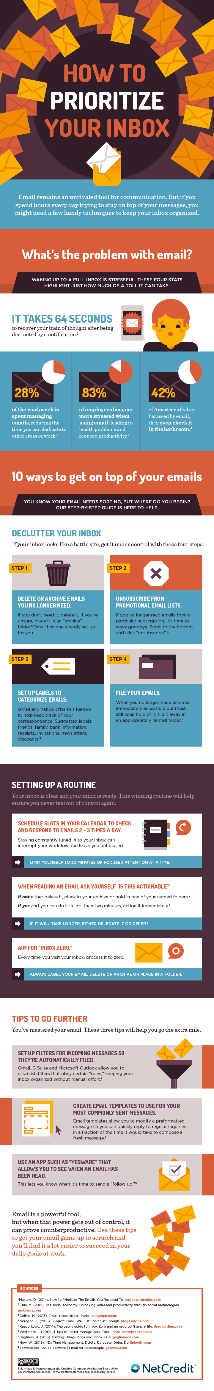 How to Prioritize Your Inbox - #infographic