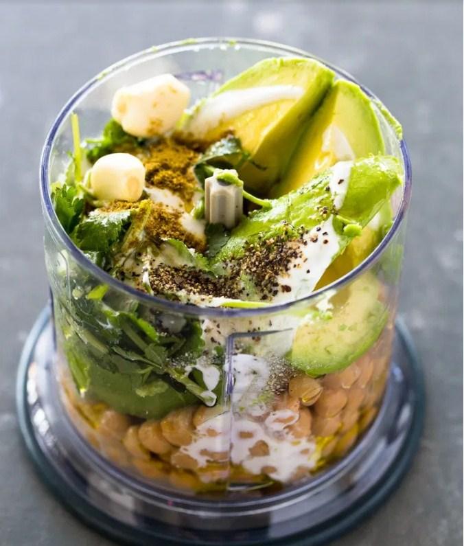 Smooth and creamy Healthy Avocado Hummus