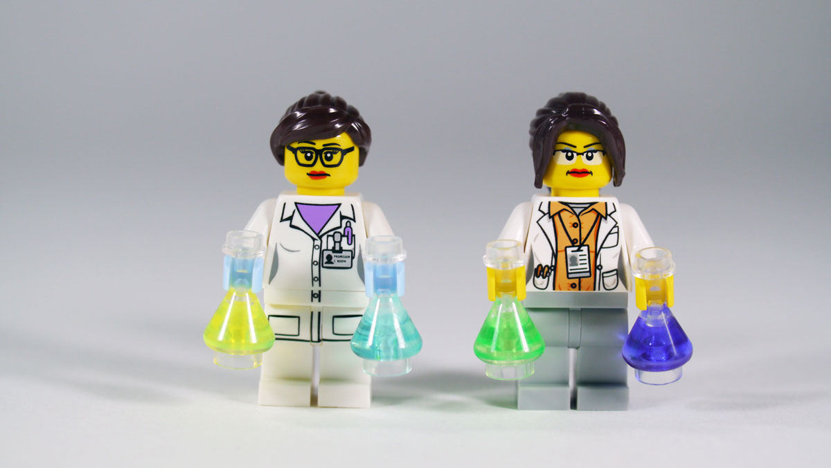 Lego-tutkijoita.