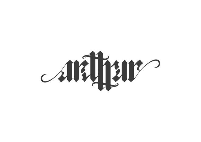 Pengertian Ambirgam, Inspirasi Desain Logo Ambigram - Arthur Ambigram