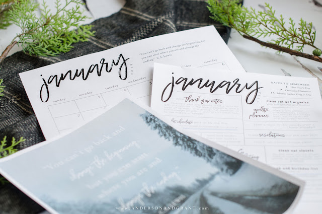 Free January Printables to Organize and Inspire