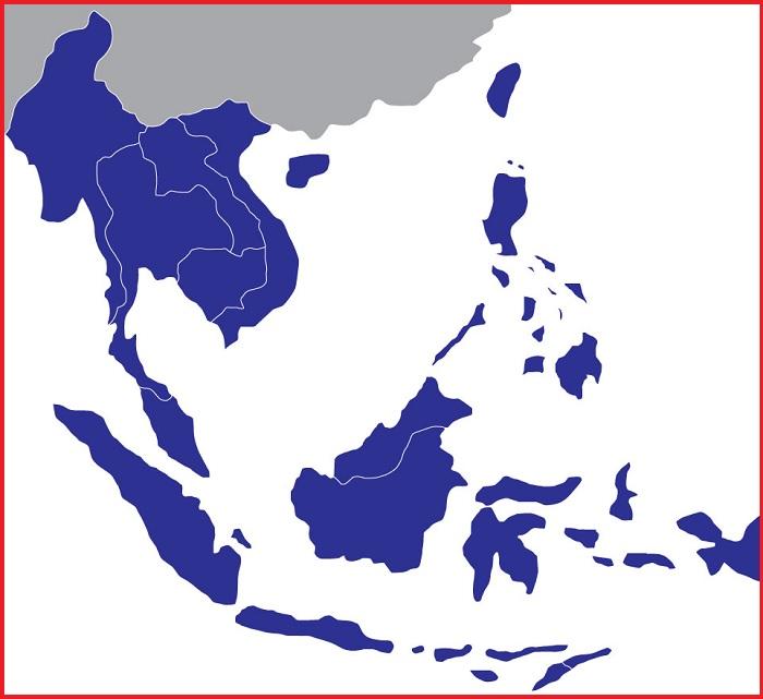 Peta Asia Tenggara Vector