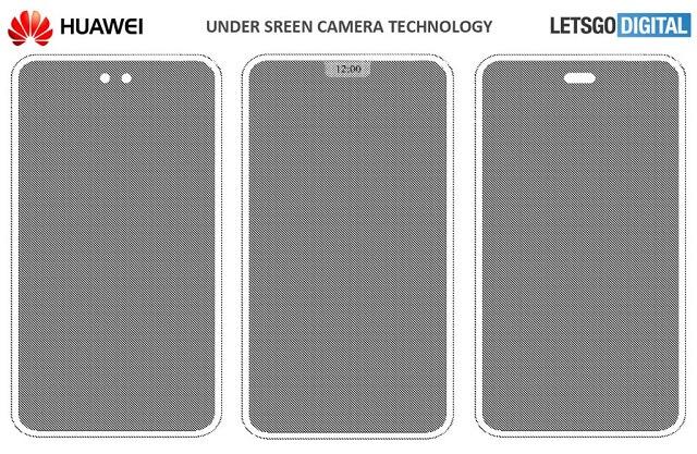 براءة إختراع مثيرة من هواوي لهاتف بكاميرا تحت الشاشة