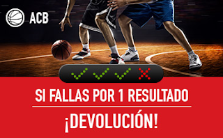 sportium promocion ACB: Combinada 'con seguro' 21-22 abril