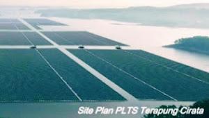 PLTS terapung di Waduk Cirata Purwakarta terbesar di dunia