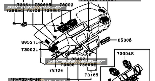 TWY TRADING: Mitsubishi Genuine Parts Diagram: Evo CT9A E9