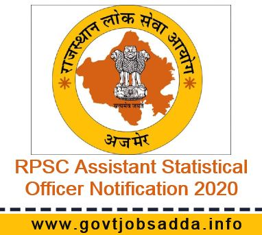 RPSC Assistant Statistical Officer Notification 2020 Out Apply Online For 11 Posts