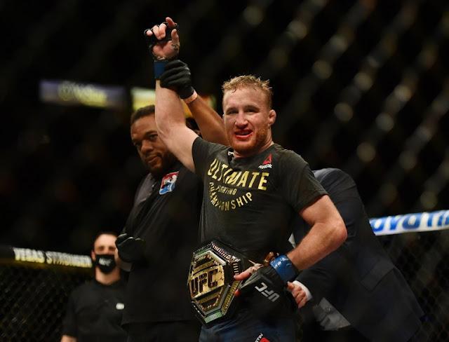 Justin Gaethje Interim title at UFC 249