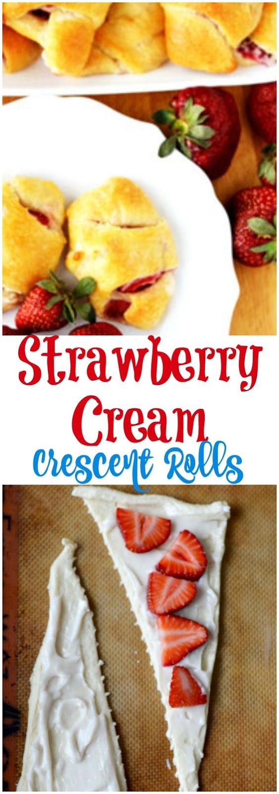 Strawberry Cream Crescent Roll Recipe