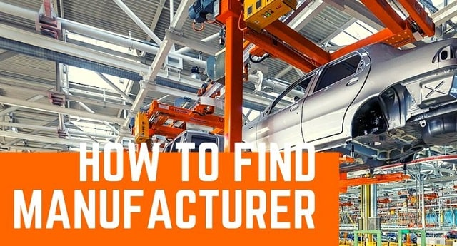 how to find a manufacturer business products manufacturing