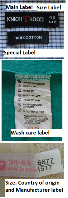 Different Types Of Labels Used In Garments And Information Found