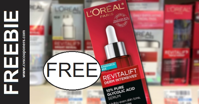 FREE L'Oreal Paris Face Serum CVS Deals