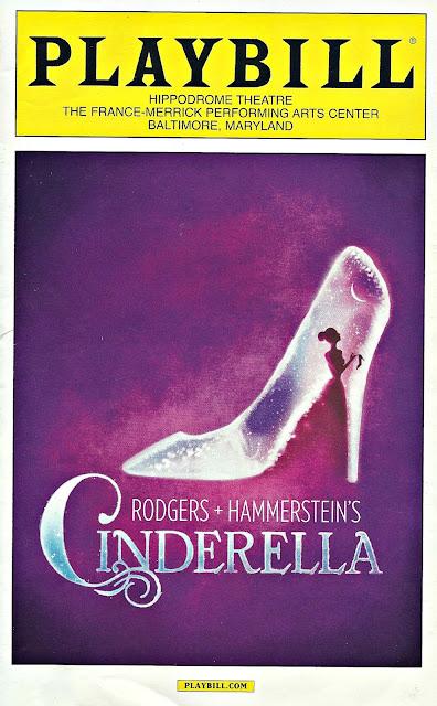 Cinderella national tour playbill Baltimore