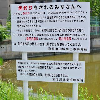 木幡池の看板