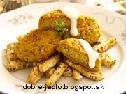 Pšenové fašírky so zelerovými hranolkami - recept