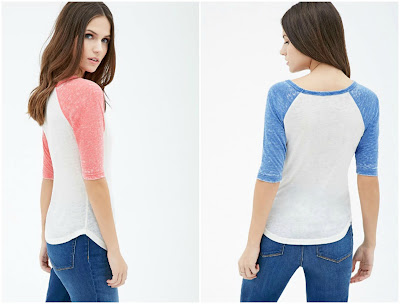 Heathered Baseball Tee $6 (reg $13)