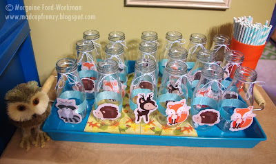 Woodland Creature Baby Shower drink glasses
