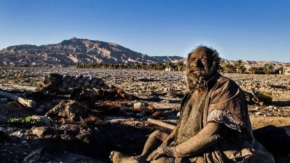 Amau Haji, the world's dirtiest man, has not bathed for 65 years, fearing water