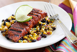 Grilled Salmon with a Chili Spice Rub