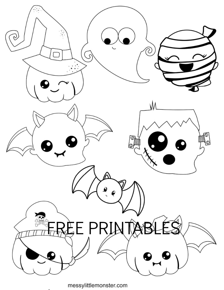 Halloween Colouring Pages for kids - Messy Little Monster