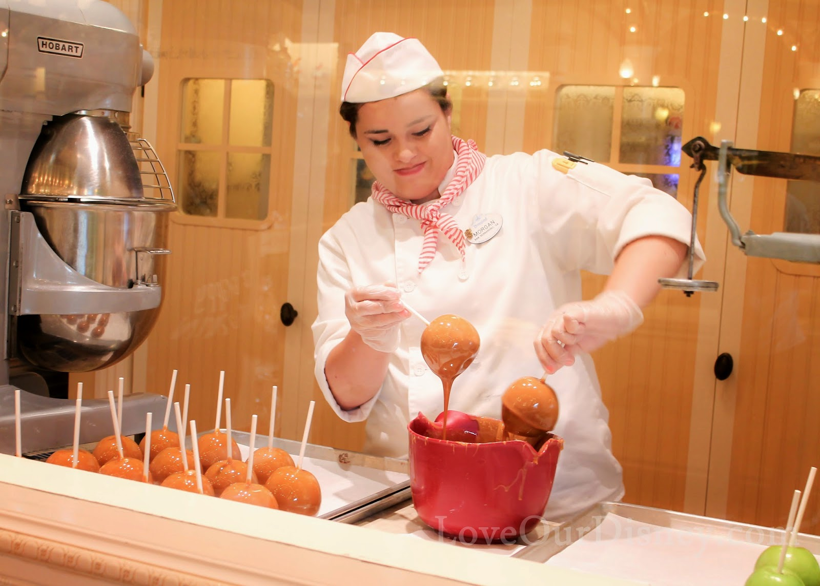 Watch candy being made at Disneyland's Candy Palace. So cool! LoveOurDisney.com