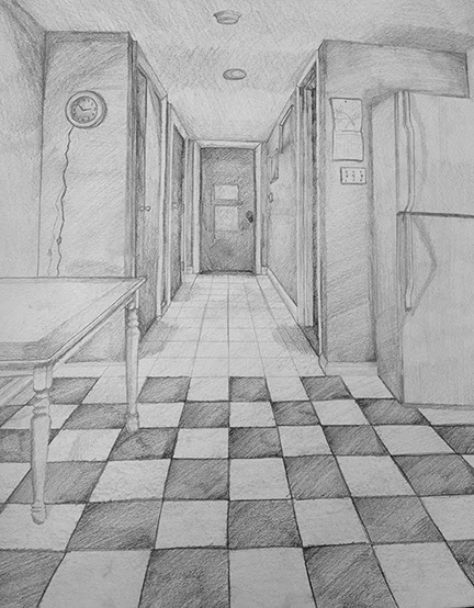 One Perspective Drawing Room: Foundations Drawing Fall '13: One Point Perspective Due