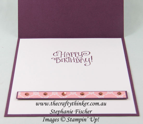 #thecraftythinker, #easelcard, #funfold, #cardmaking, #inkitstampit, Heartfelt Blooms, Saleabration, Easel Card, Fun Fold, Stampin' Up Australia Demonstrator, Stephanie Fischer, Sydney NSW