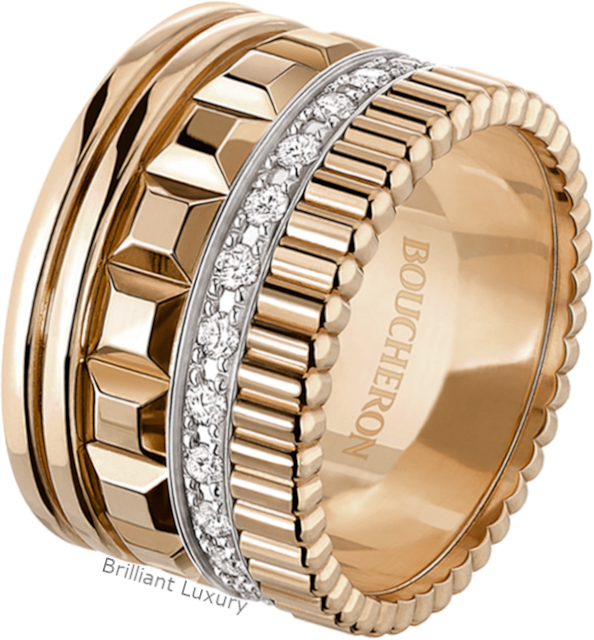 Brilliant Luxury♦Boucheron Paris Quatre Radiant Edition large ring