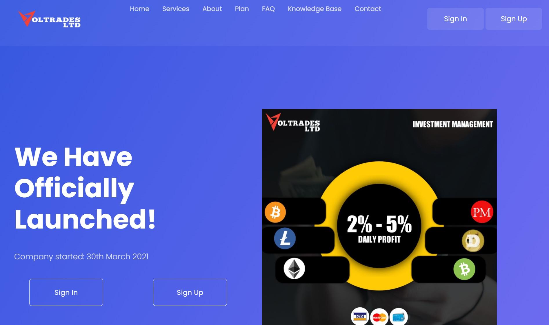 review hyip : voltradesltd.com