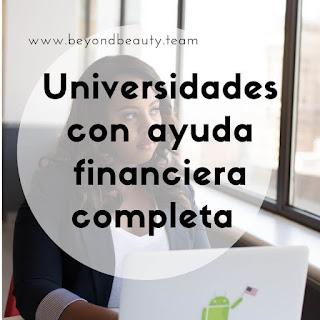 Cómo encontrar universidades con ayuda financiera completa