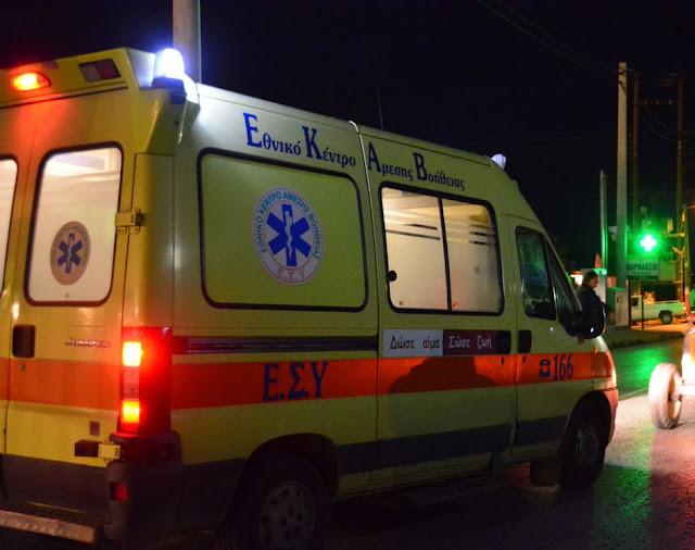 Σοβαρό ύποπτο περιαστικό διακομίσθηκε τη νύχτα στο νοσοκομείο Ναυπλίου