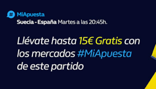 william hill 15€ Gratis Suecia vs España 15-10-2019
