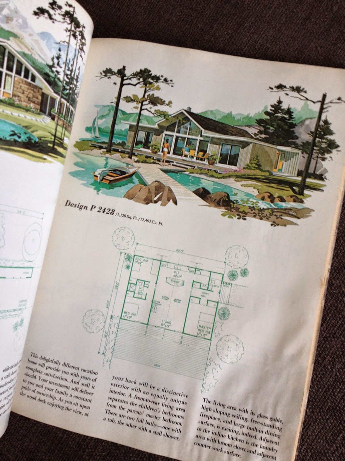 mid-century vacation home plan book