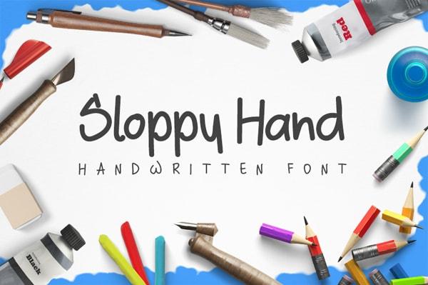 Brush font terbaik 2017 - Sloppy – Free Brush Font