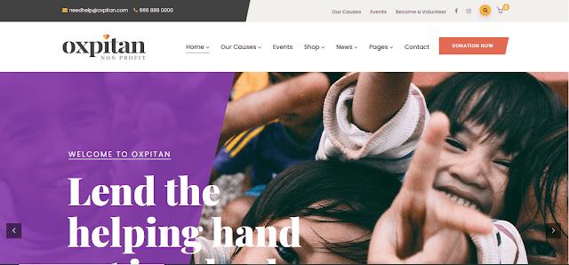 Nonprofit Fundraising & Charity WordPress Themes With Donation System   Oxpitan