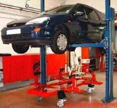 Cầu nâng cho khoang sửa chữa xe tai nạn-2